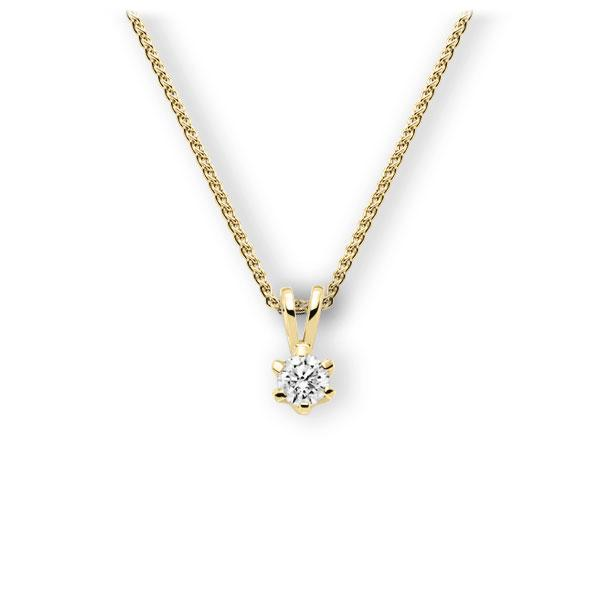 Collier in Gelbgold 585 mit 0,4 ct. Brillant tw, vs von 123gold - E-3WJZ7-GG5-1IV561Z