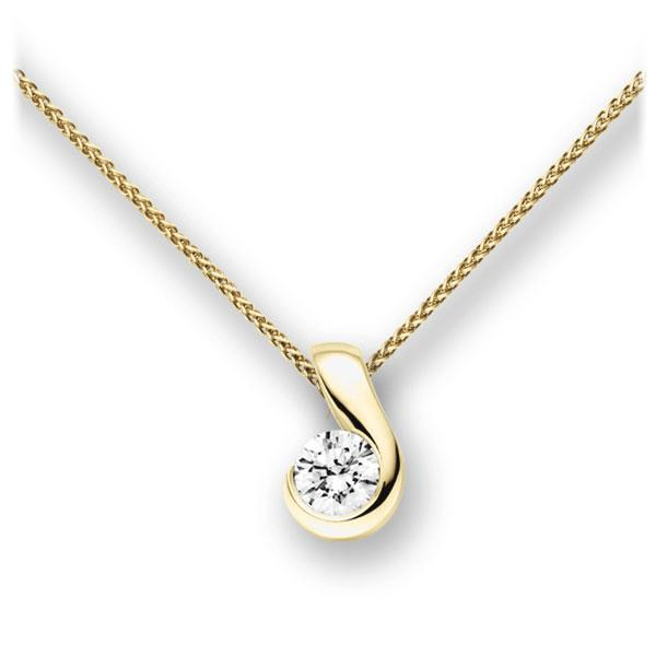 Collier in Gelbgold 585 mit 0,4 ct. Brillant tw, vs von acredo - A-10L325-GG5-1IVFQGZ