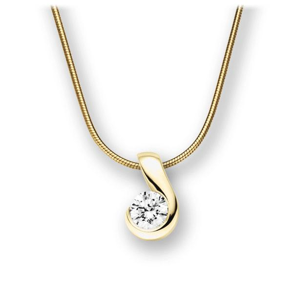 Collier in Gelbgold 585 mit 0,4 ct. Brillant tw, vs von acredo - A-10L8J7-GG5-1IVFQGZ
