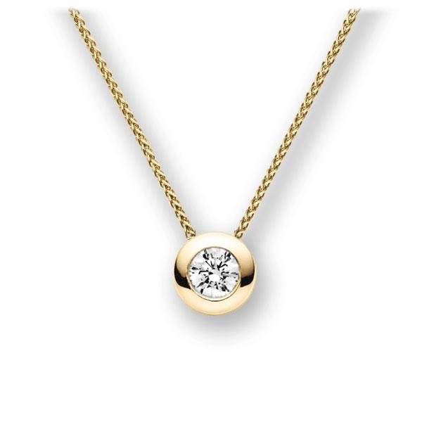 Collier in Gelbgold 585 mit 0,4 ct. Brillant tw, vs von acredo - A-11IBRI-GG5-1IV50BZ