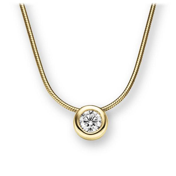 Collier in Gelbgold 585 mit 0,5 ct. Brillant tw, vs von 123gold - E-2TWY1-GG5-1IV4L1Z