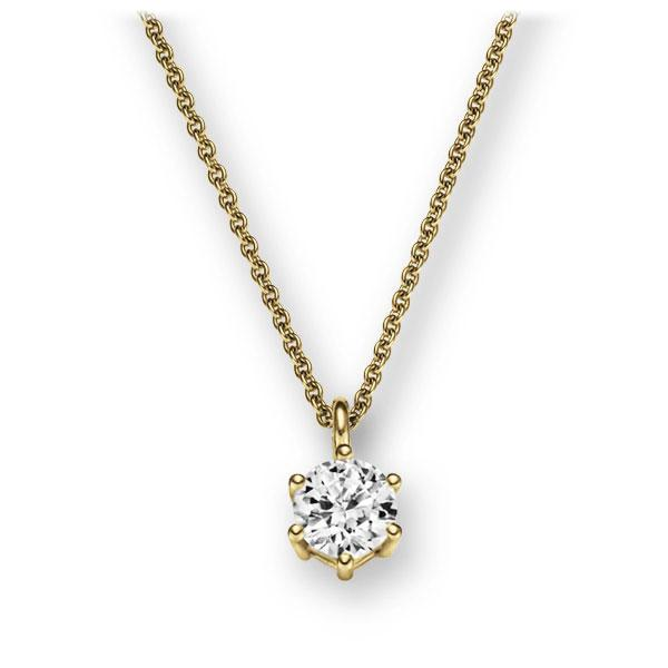 Collier in Gelbgold 585 mit 0,5 ct. Brillant tw, vs von 123gold - E-2U6LJ-GG5-1IV54BZ