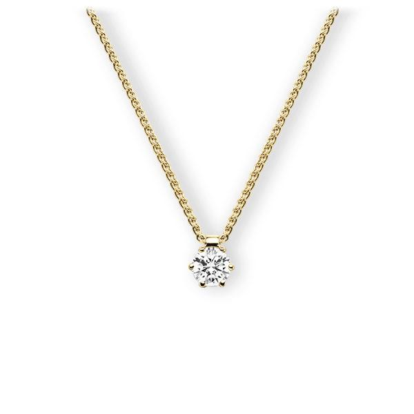 Collier in Gelbgold 585 mit 0,5 ct. Brillant tw, vs von 123gold - E-3VBJW-GG5-1IV54BZ
