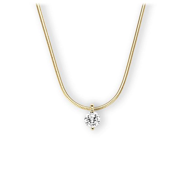 Collier in Gelbgold 585 mit 0,5 ct. Brillant tw, vs von 123gold - E-3VBUD-GG5-1IV5GLZ