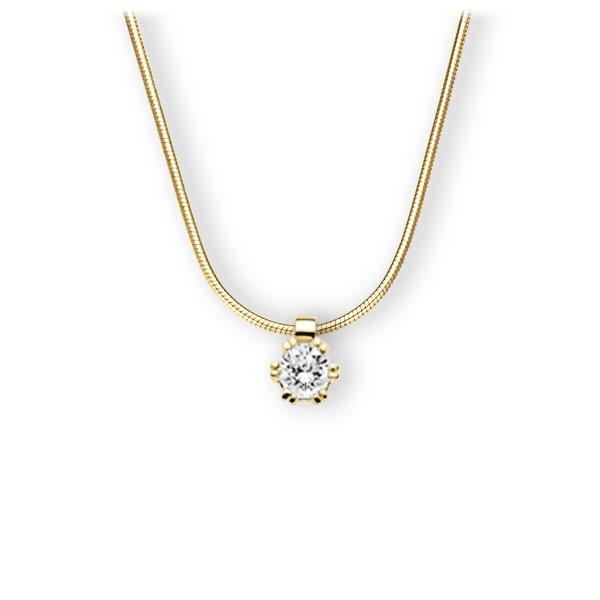 Collier in Gelbgold 585 mit 0,5 ct. Brillant tw, vs von 123gold - E-3WIP9-GG5-1IV54BZ