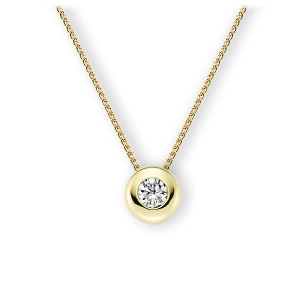 Collier in Gelbgold 585 mit 0,5 ct. Brillant tw, vs von 123gold - E-3WJFF-GG5-1IV4L1Z