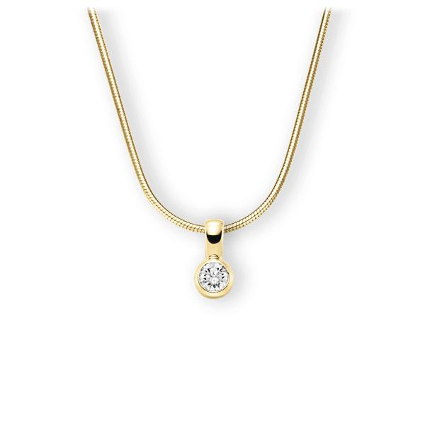 Collier in Gelbgold 585 mit 0,5 ct. Brillant tw, vs von 123gold - E-3WK1U-GG5-1IV4L1Z