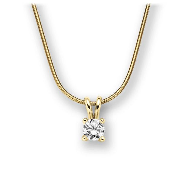 Collier in Gelbgold 585 mit 0,5 ct. Brillant tw, vs von acredo - A-10L6VF-GG5-1IV4KGZ