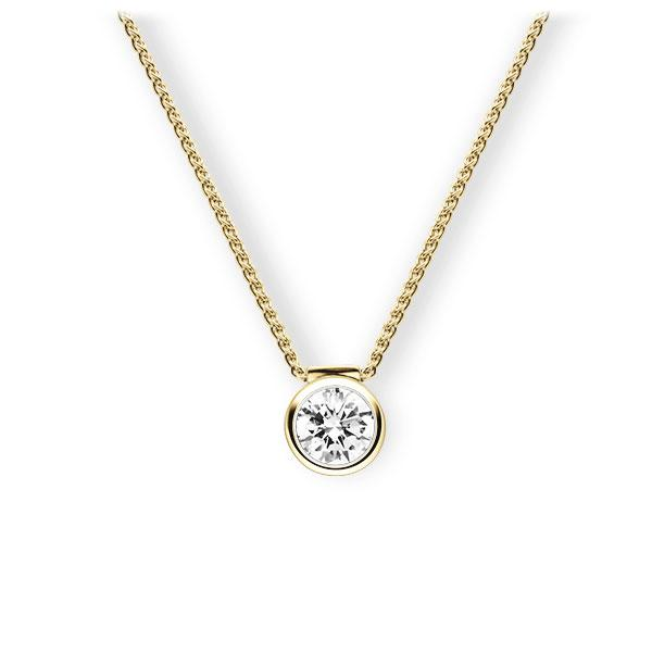 Collier in Gelbgold 585 mit 0,7 ct. Brillant tw, vs von 123gold - E-3VBBY-GG5-1IV4XRZ