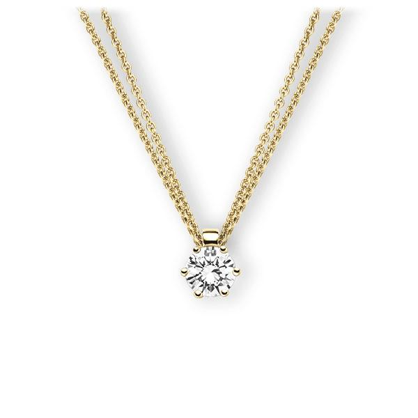 Collier in Gelbgold 585 mit 0,7 ct. Brillant tw, vs von 123gold - E-3VBFC-GG5-1IV4HLZ