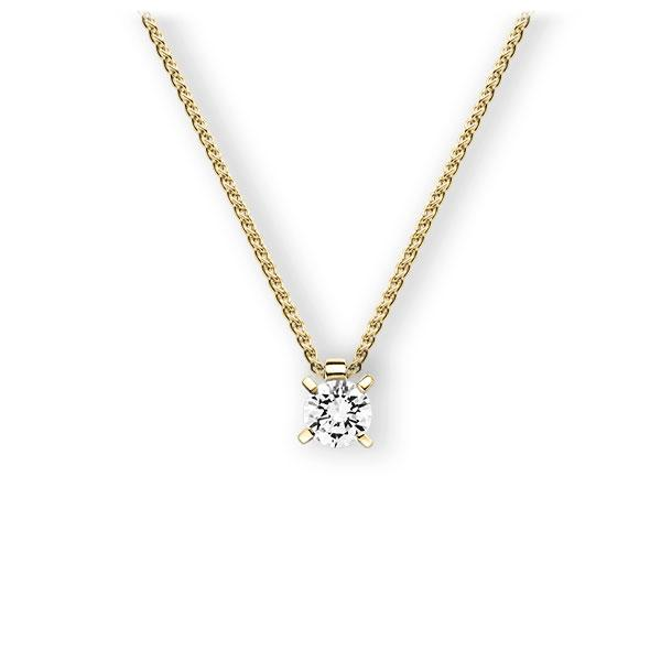 Collier in Gelbgold 585 mit 0,7 ct. Brillant tw, vs von 123gold - E-3WIBQ-GG5-1IV4J1Z