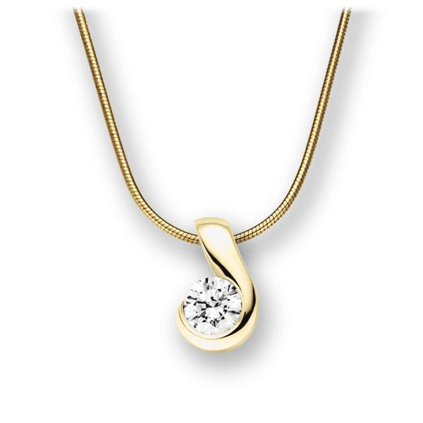 Collier in Gelbgold 585 mit 0,7 ct. Brillant tw, vs von acredo - A-10L7A5-GG5-1IVFS6Z