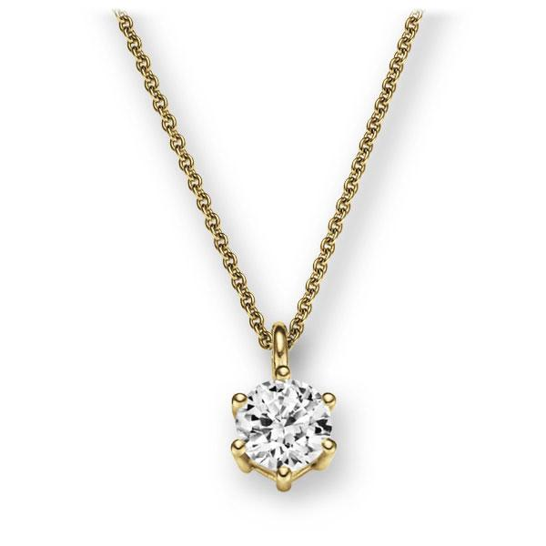 Collier in Gelbgold 585 mit 1 ct. Brillant tw, vs von 123gold - E-2U6LK-GG5-1IV56WZ