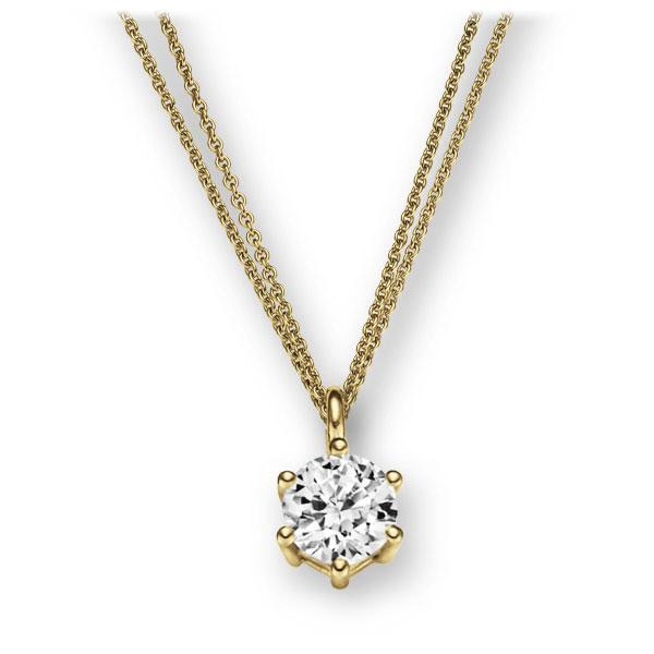 Collier in Gelbgold 585 mit 1 ct. Brillant tw, vs von 123gold - E-2U6NM-GG5-1IV56WZ