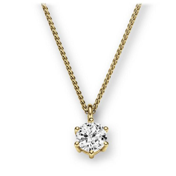 Collier in Gelbgold 585 mit 1 ct. Brillant tw, vs von 123gold - E-2U6R6-GG5-1IV56WZ