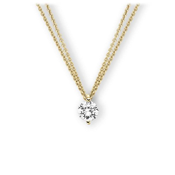 Collier in Gelbgold 585 mit 1 ct. Brillant tw, vs von 123gold - E-3VBM2-GG5-1IV5SGZ