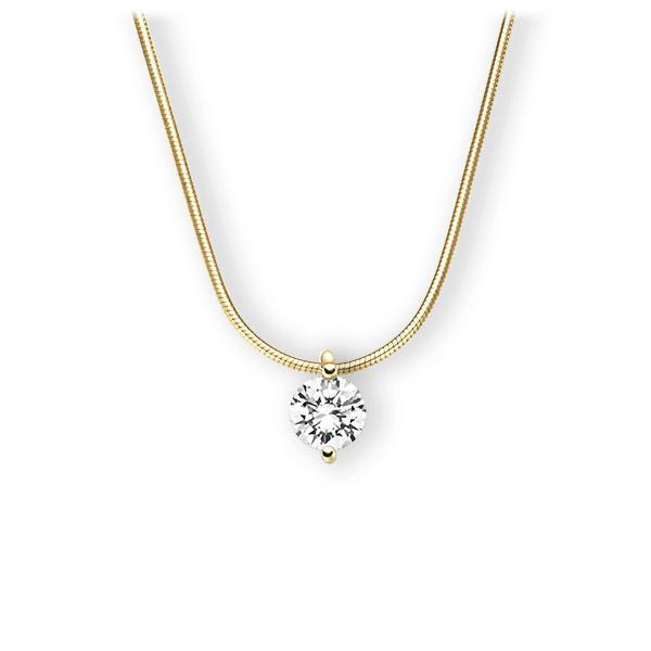 Collier in Gelbgold 585 mit 1 ct. Brillant tw, vs von 123gold - E-3VBUE-GG5-1IV5SGZ
