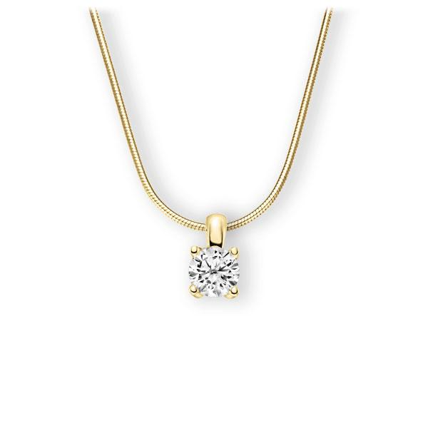 Collier in Gelbgold 585 mit 1 ct. Brillant tw, vs von 123gold - E-3WIG9-GG5-1IV6K6Z