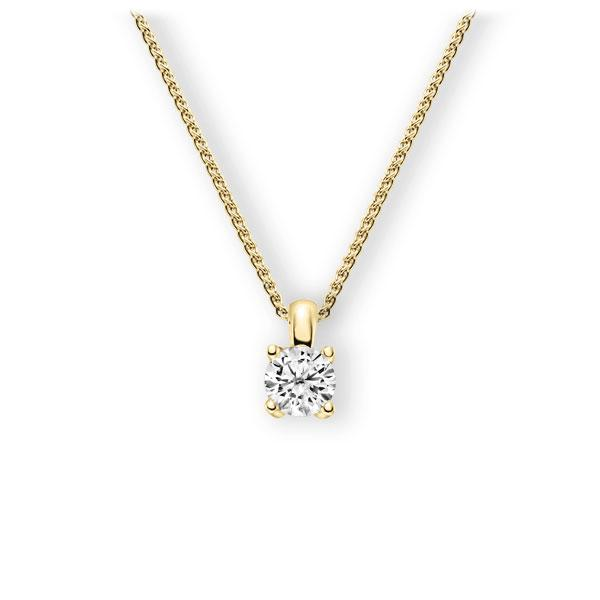 Collier in Gelbgold 585 mit 1 ct. Brillant tw, vs von 123gold - E-3WII6-GG5-1IV6K6Z