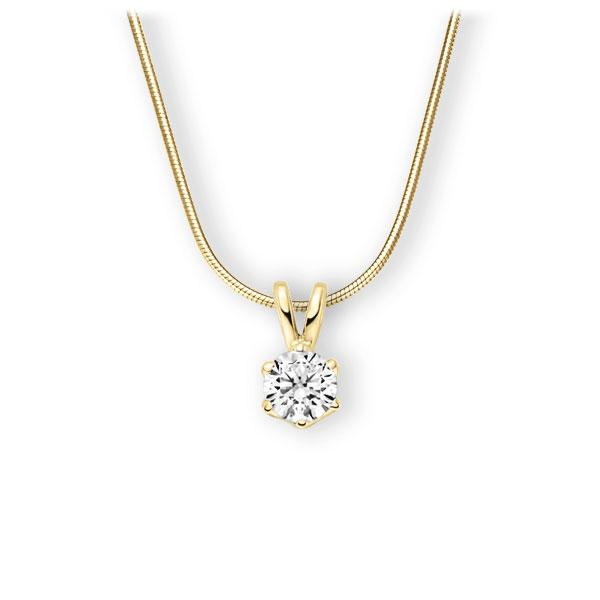 Collier in Gelbgold 585 mit 1 ct. Brillant tw, vs von 123gold - E-3WJW8-GG5-1IV56WZ