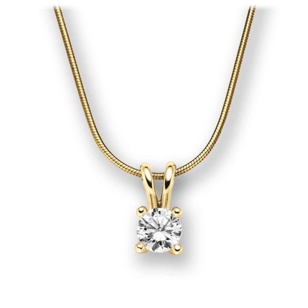 Collier in Gelbgold 585 mit 1 ct. Brillant tw, vs von acredo - A-10M9RH-GG5-1IV6K6Z