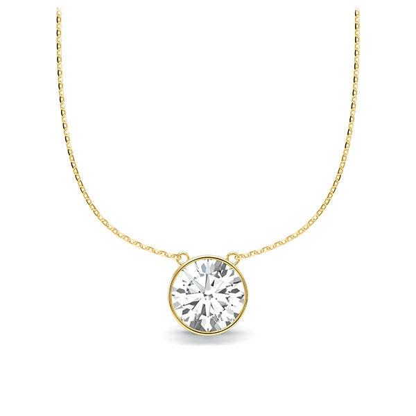 Collier in Gelbgold 585 mit 1 ct. Brillant tw, vs von Steinberg - Q-ZLISS-GG5-1IV64GZ