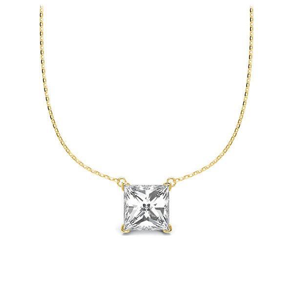 Collier in Gelbgold 585 mit 1 ct. Prinzess-Diamant tw, vs von Steinberg - Q-ZLEZ9-GG5-V9BCLZ