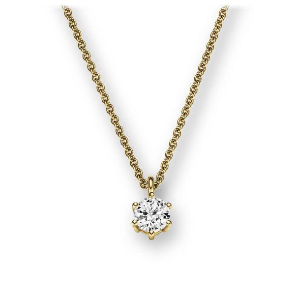 Collier in Gelbgold 585 mit zus. 0,15 ct. Brillant tw, vs von 123gold - E-2U6LE-GG5-1Z84ZZ