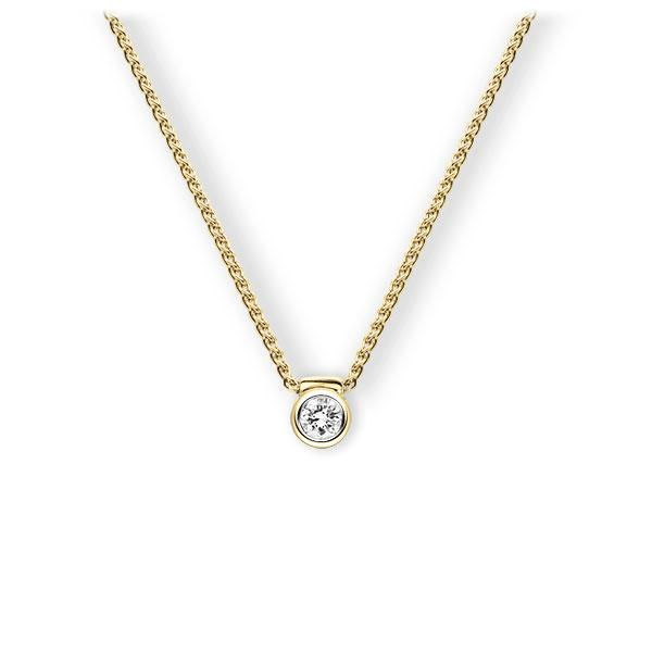 Collier in Gelbgold 585 mit zus. 0,15 ct. Brillant tw, vs von 123gold - E-3VBBR-GG5-1Z850Z