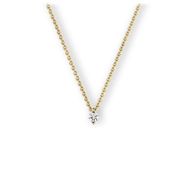 Collier in Gelbgold 585 mit zus. 0,15 ct. Brillant tw, vs von 123gold - E-3VBKU-GG5-1Z851Z