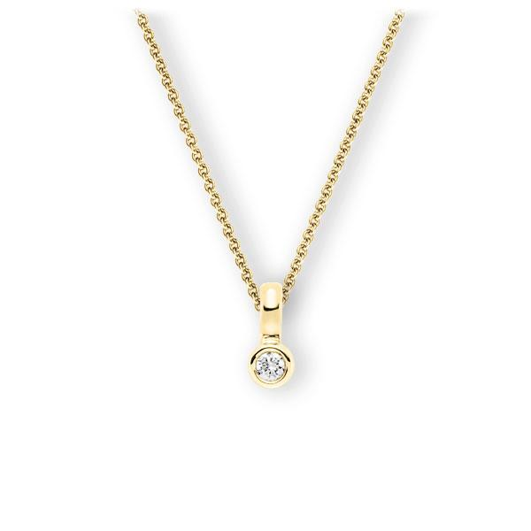 Collier in Gelbgold 585 mit zus. 0,15 ct. Brillant tw, vs von 123gold - E-3WIUA-GG5-1Z850Z
