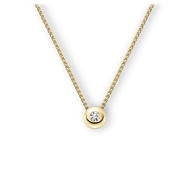 Collier in Gelbgold 585 mit zus. 0,15 ct. Brillant tw, vs von 123gold - E-3WJFE-GG5-1Z850Z