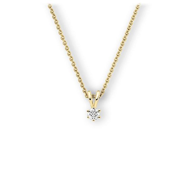 Collier in Gelbgold 585 mit zus. 0,15 ct. Brillant tw, vs von 123gold - E-3WJTG-GG5-1Z84ZZ