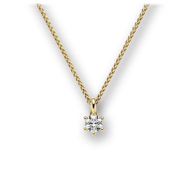 Collier in Gelbgold 585 mit zus. 0,15 ct. Brillant tw, vs von acredo - A-10L8NA-GG5-1TN9IZ