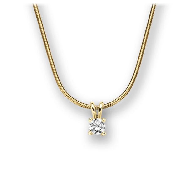 Collier in Gelbgold 585 mit zus. 0,15 ct. Brillant tw, vs von acredo - A-10L8P0-GG5-1TXE9Z