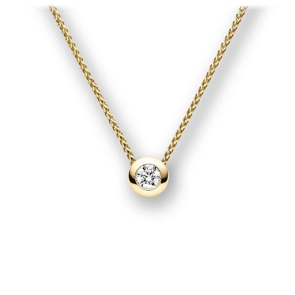 Collier in Gelbgold 585 mit zus. 0,15 ct. Brillant tw, vs von acredo - A-11IBRA-GG5-1TXFAZ