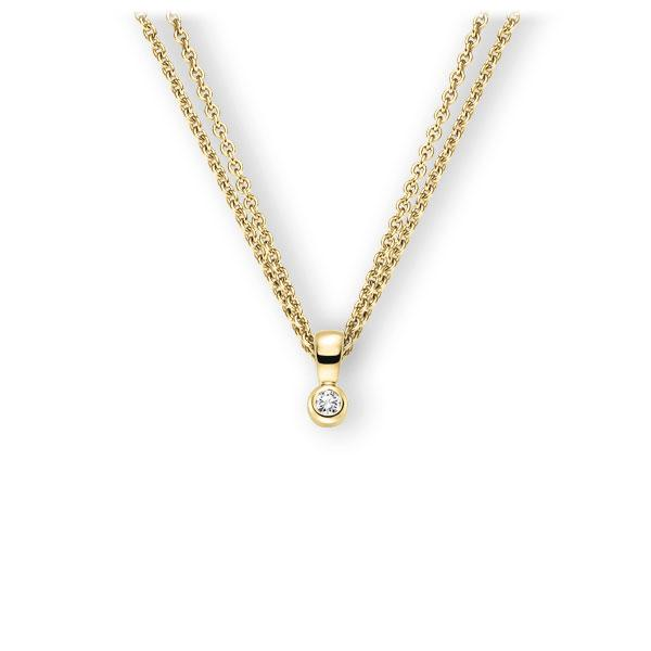 Collier in Gelbgold 585 mit zus. 0,1 ct. Brillant tw, vs von 123gold - E-3WK10-GG5-1Z8K4Z
