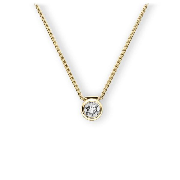 Collier in Gelbgold 585 mit zus. 0,25 ct. Brillant tw, vs von 123gold - E-3VBBU-GG5-2KTPHZ