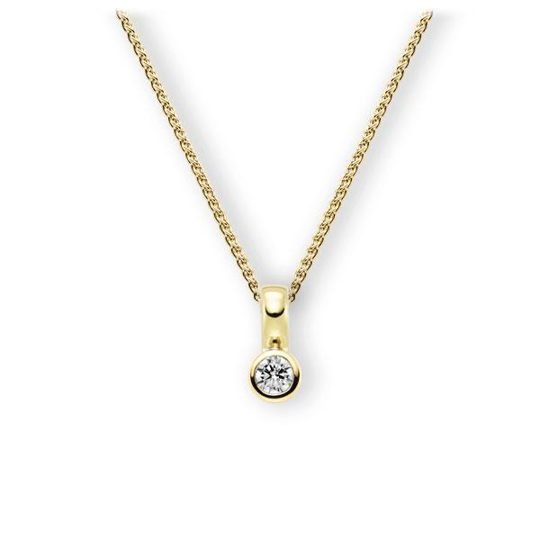 Collier in Gelbgold 585 mit zus. 0,25 ct. Brillant tw, vs von 123gold - E-3WIZG-GG5-2KTPHZ