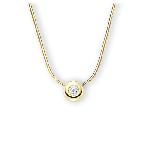 Collier in Gelbgold 585 mit zus. 0,25 ct. Brillant tw, vs von 123gold - E-3WJA6-GG5-2KTPHZ