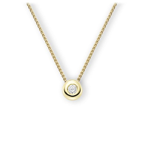 Collier in Gelbgold 585 mit zus. 0,25 ct. Brillant tw, vs von 123gold - E-3WJFW-GG5-2KTPHZ