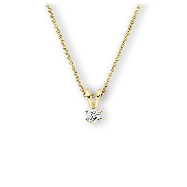 Collier in Gelbgold 585 mit zus. 0,25 ct. Brillant tw, vs von 123gold - E-3WJTI-GG5-1TMYJZ