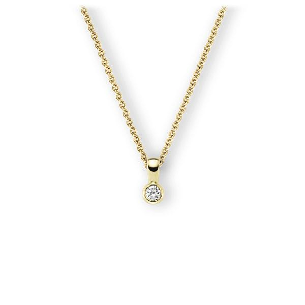 Collier in Gelbgold 585 mit zus. 0,25 ct. Brillant tw, vs von 123gold - E-3WK0N-GG5-2KTPHZ