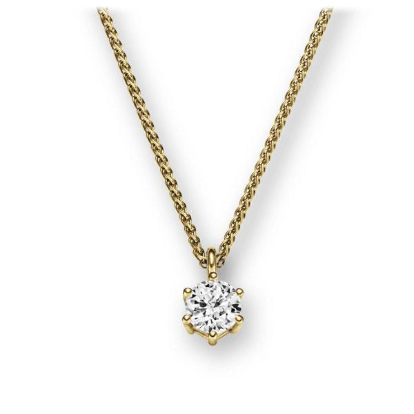 Collier in Gelbgold 585 mit zus. 0,2 ct. Brillant tw, vs von 123gold - E-2U6R0-GG5-1TMRHZ