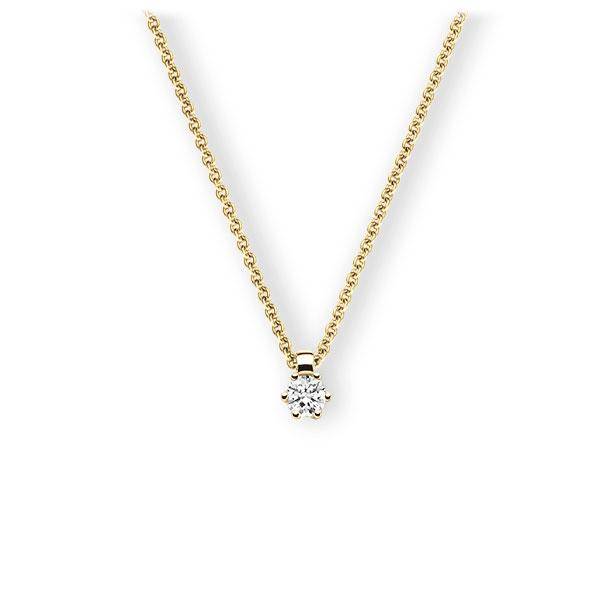 Collier in Gelbgold 585 mit zus. 0,2 ct. Brillant tw, vs von 123gold - E-3VBDW-GG5-1TMRHZ