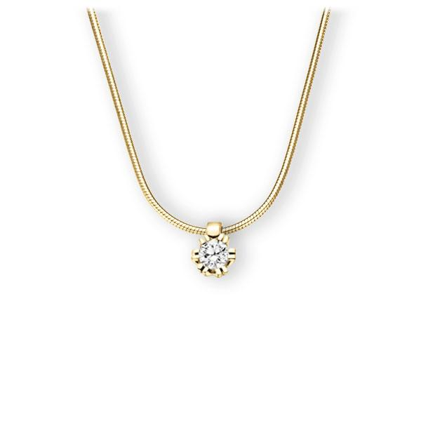 Collier in Gelbgold 585 mit zus. 0,2 ct. Brillant tw, vs von 123gold - E-3WIP7-GG5-1TMRHZ