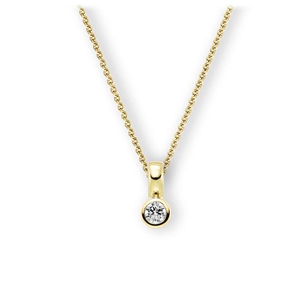 Collier in Gelbgold 585 mit zus. 0,2 ct. Brillant tw, vs von 123gold - E-3WIT9-GG5-2KTPGZ
