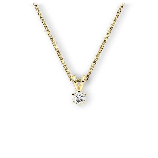 Collier in Gelbgold 585 mit zus. 0,2 ct. Brillant tw, vs von 123gold - E-3WJXY-GG5-1TMRHZ