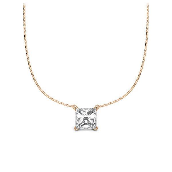 Collier in Rotgold 585 mit 0,5 ct. Prinzess-Diamant tw, vs von Steinberg - Q-ZLEZ6-RR5-UZDHGZ