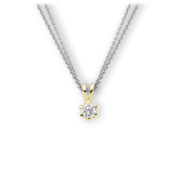 Collier in Weißgold 585 Gelbgold 585 mit 0,4 ct. Brillant tw, vs von 123gold - E-3WJVJ-WG5-1IV561Z